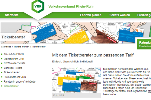 VRR Website - Ticketberater